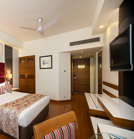 Ideal for the budget traveler, the Mauryan chamber rooms offer all requisite room facilities. The rooms are simple in design and décor.…